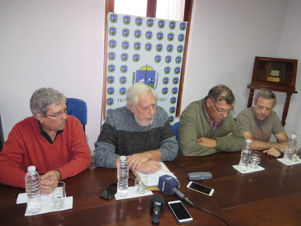 De izq. a der. Juan Gandini,Juan Torrado, Jorge Diaz y Federico Canali